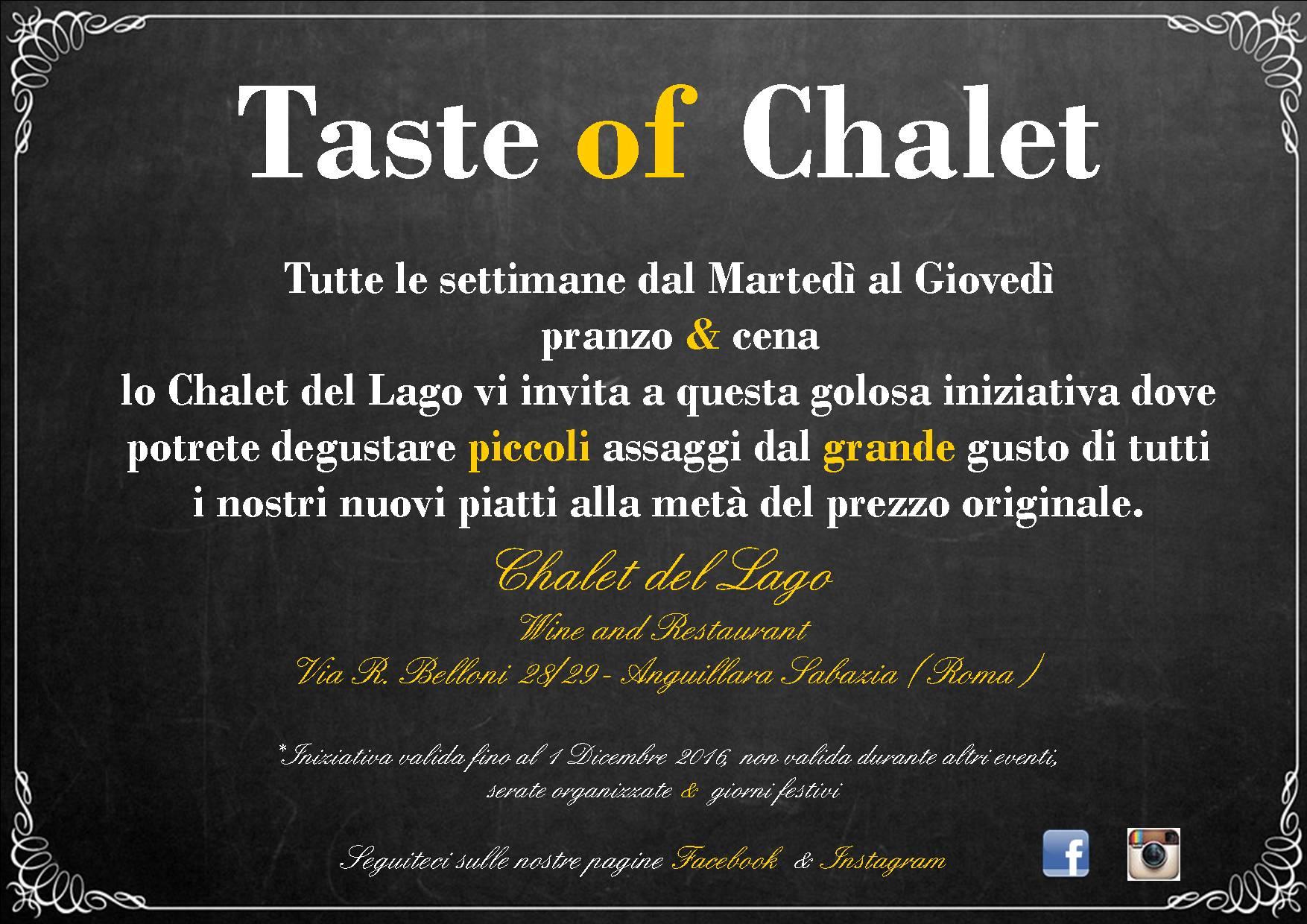 Presentazione Taste of Chalet